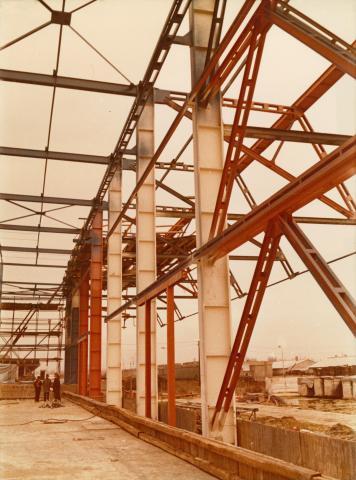 Ipari csarnoképület  vázszerkezete