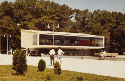 A badacsonyi Tátika Étterem az 1960-as években