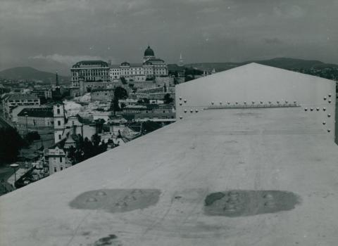 Kilátás az Erzsébet hídról a Budai Várra