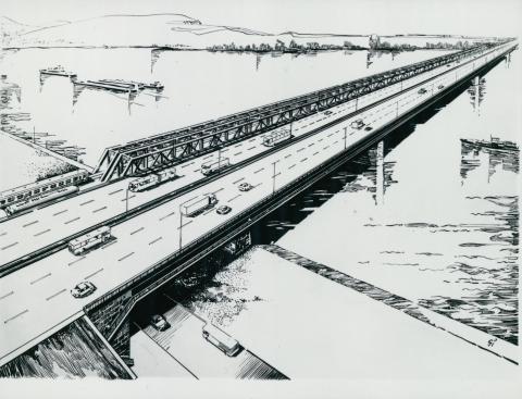A lágymányosi híd és környezetének látványterve