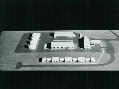 Az újhartyáni mérnökségi telep makettje