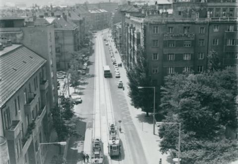 Az 59-es villamos Böszörményi úti szakasza