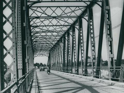 Az 1894-ben elkészült, régi körösladányi Sebes-Körös híd acélszerkezete