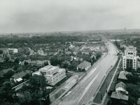 Szeged látképe előtérben az épülő Bertalan híddal