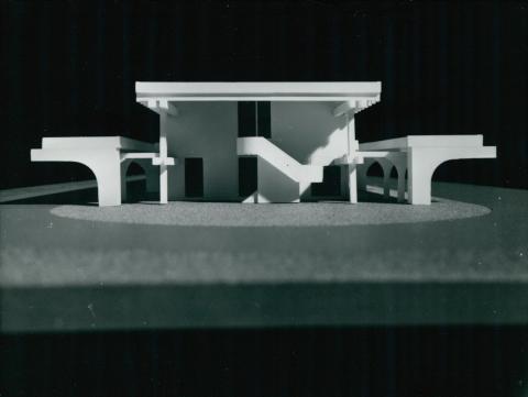 Az ajkai autóbusz-állomás makettje