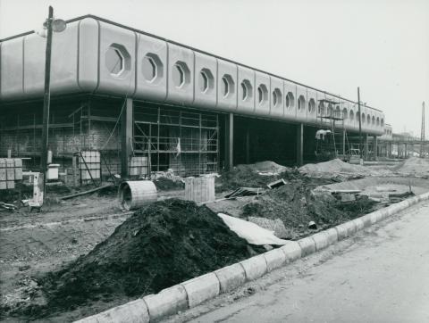 A Kőbánya-kispesti MÁV-METRO állomás építése