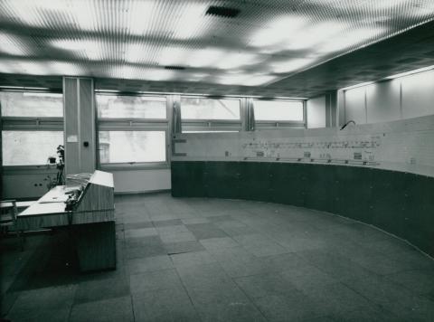 A BKV Forgalomirányító Központjának diszpécser szobája