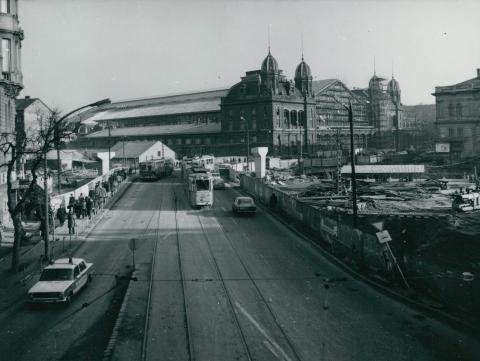 A Nyugati téri felüljáró építése