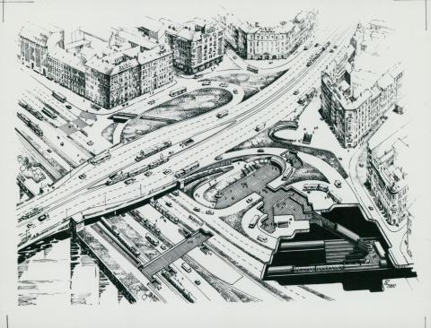 Izometrikus rajz a megújuló Boráros térről