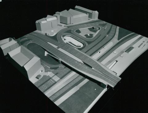 A megújuló Boráros tér modellje