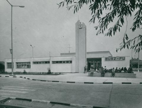 A fehérgyarmati VOLÁN-pályaudvar épülete