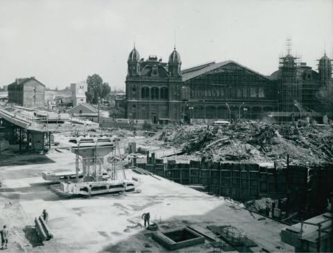 A rendezés alatt álló Nyugati tér látképe