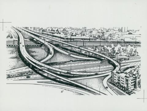 A Hungária körúti csomópont (Sipőczy Lajos rajza)