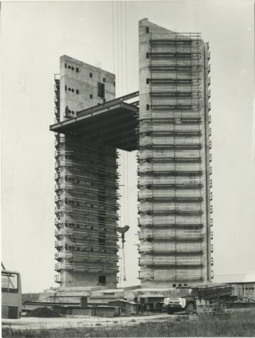 A Ferihegyi új irányítótorony építése