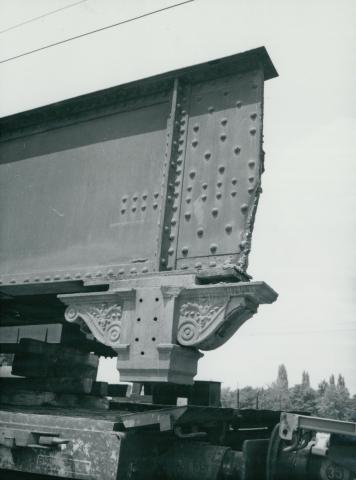 Az Üllői úti vasúti híd lecserélt szerkezeti eleme