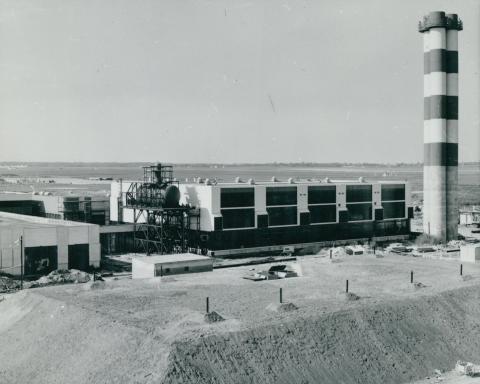 A Ferihegyi repülőtér hőenergiaellátó és vízkezelési épülete