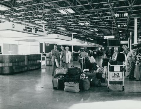 A Ferihegyi repülőtér indulási csarnoka