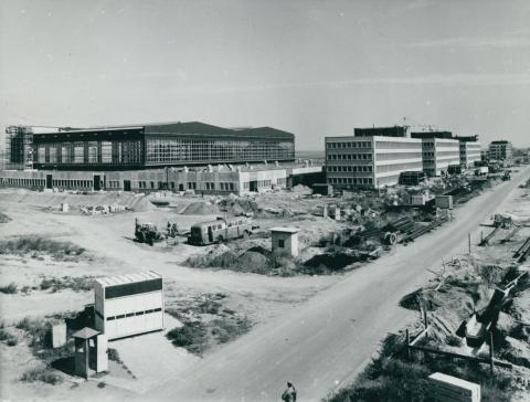 A Ferihegyi repülőtér karbantartó műszaki bázisának építése