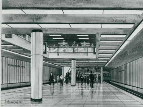 A 3-as metró Lehel téri megállójának terve