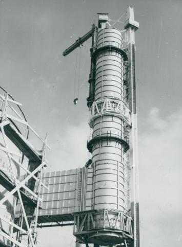 Az újpesti hőerőmű építése