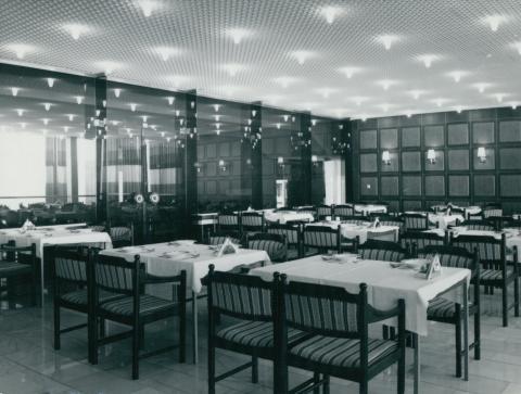 A visegrádi pártüdülő étterme