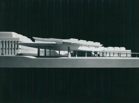 A Ferihegy 2 repülőtér makettje