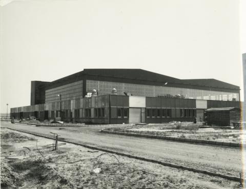 Ferihegyi új hangár belső szerkezete