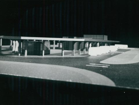 A siófoki autóbuszpályaudvar makettje