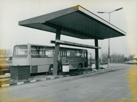 Benzinkút egy Volánbusz telepen
