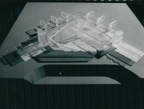 A ferihegyi repülőtér épületének modellje