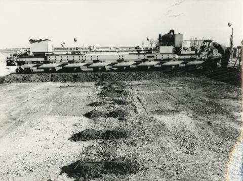 Az M7-es autópálya építése Székesfehérvár után