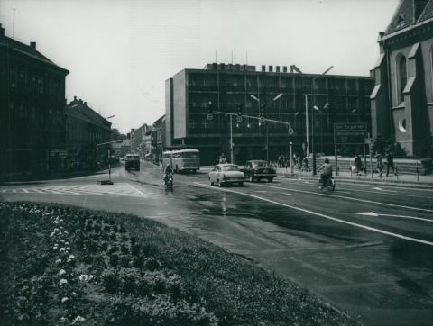 Kaposvár központja a Hotel Kapossal