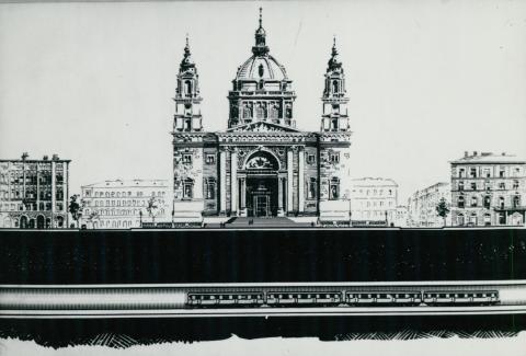 Metróvonal terve a Szent István Bazilika alatt