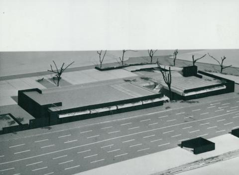 A 3-as metró Pöttyös utcai megállójának felszíni makettje