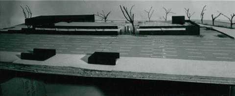 A 3-as metró Pöttyös utcai megállójának modellje