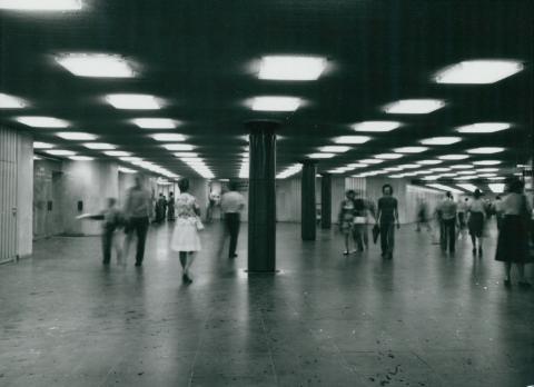 A Deák téri metróállomás aluljárója