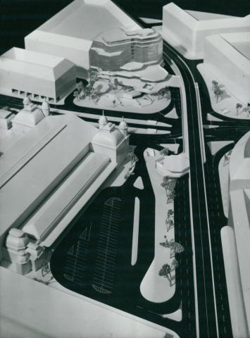 Az egykori Marx tér (ma Nyugati tér) rendezési tervének modellje