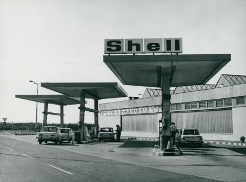 Shell benzinkút a velencei pihenőhelyen