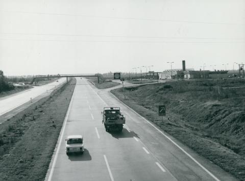 A székesfehérvári gyalogfelüljáró az 59. km-nél