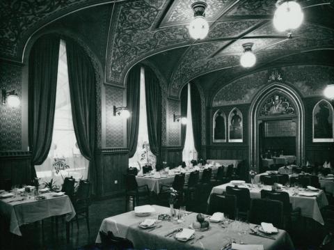 A Kárpátia étterem Zeneterme az 1978-79-es rekonstrukció után