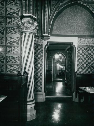 Kárpátia étterem az 1978-79-es rekonstrukció után