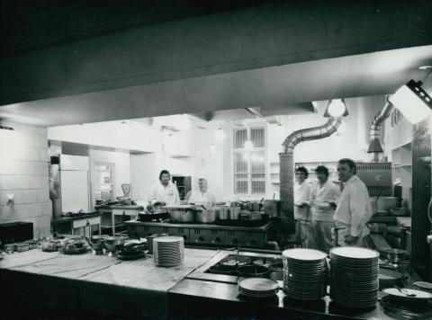 A Kárpátia étterem konyhája az 1978-79-es rekonstrukció után