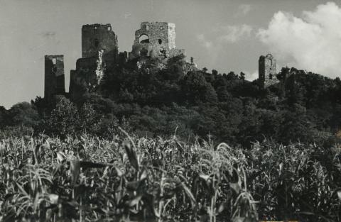 A cseszneki vár látképe