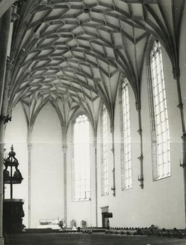 A nyírbátori református templom gótikus hálóboltozata