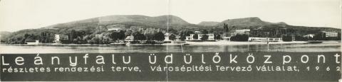 Leányfalu látképe a Duna felől
