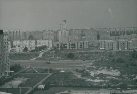 Az újpalotai lakótelep látképe