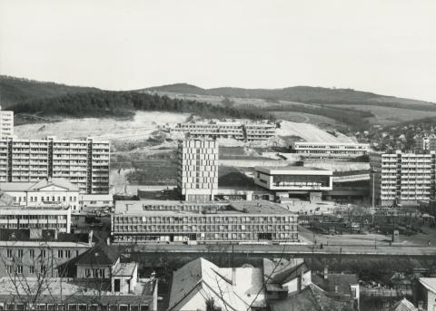 Salgótarján, a városközpont látképe