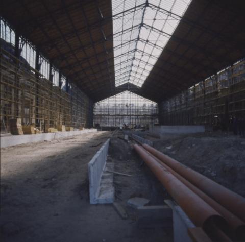 A Nyugati pályaudvar tetőszerkezetének felújítása