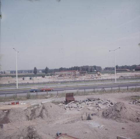 Az M3-as autópálya Szilas pihenőhelyének építése
