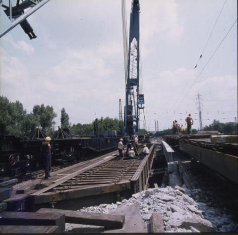Budapest, Üllői úti vasúti híd építése